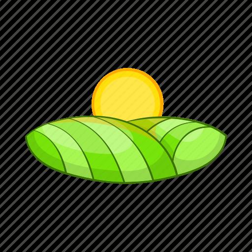 cartoon, landscape, nature, outdoor, summer, sun, valley icon