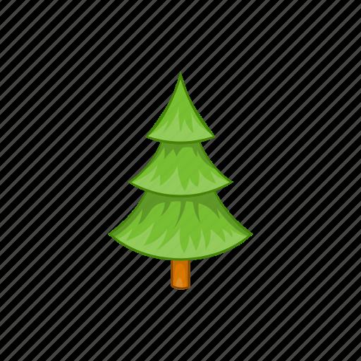 cartoon, fir, green, nature, plant, tree, wood icon