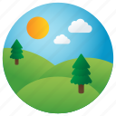 hills, nature, greenery, scenery, mountain, landscape