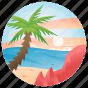 beach, beach sand, sea, landform, ocean