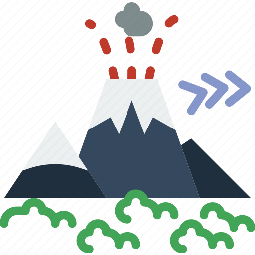 island, landscape, nature, picture, volcano icon