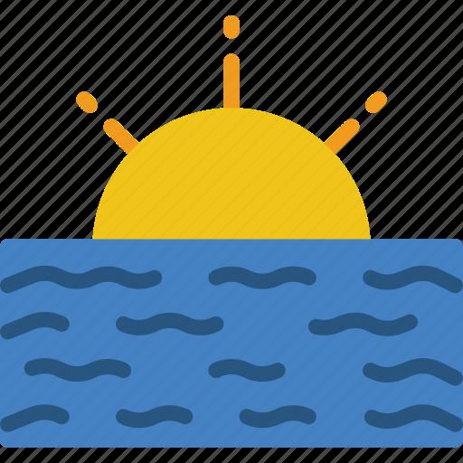 landscape, nature, ocean, picture icon
