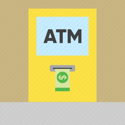 atm, bank, cash machine, cash point, dollar, finance, money icon
