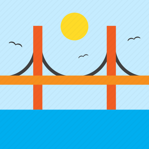 bridge, golden gate, landscape, river, san franscisco, sea, united stastes icon