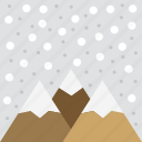 mountain, winter, nature, snowing, snow, christmas, landscape