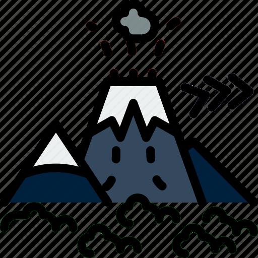 Island, nature, volcano, landscape, picture icon