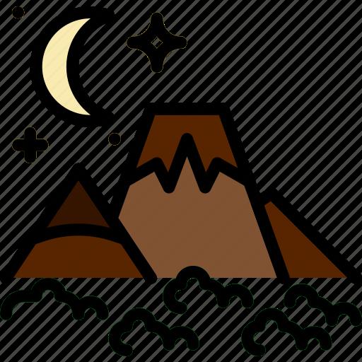 island, landscape, nature, picture, volcano icon