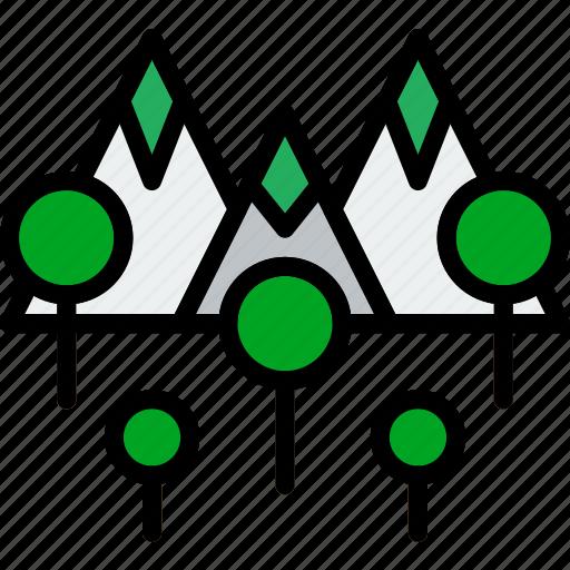 Picture, mountainside, landscape, nature icon