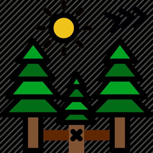 landscape, mountainside, nature, picture icon