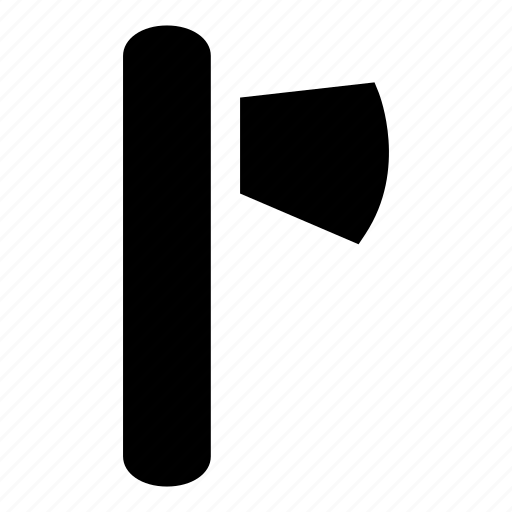 axe, axe tool, axe weapon, blade, woodcutting icon