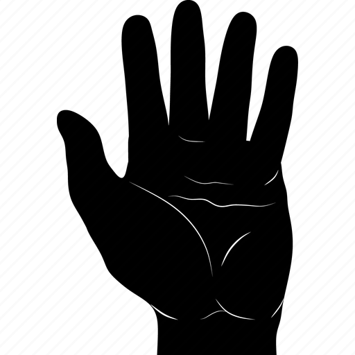 finger, five, gestureworks, tap icon