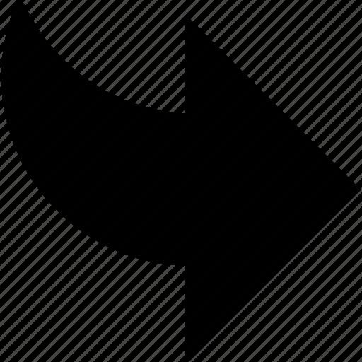 arrow, edit, redo, right, rotate icon