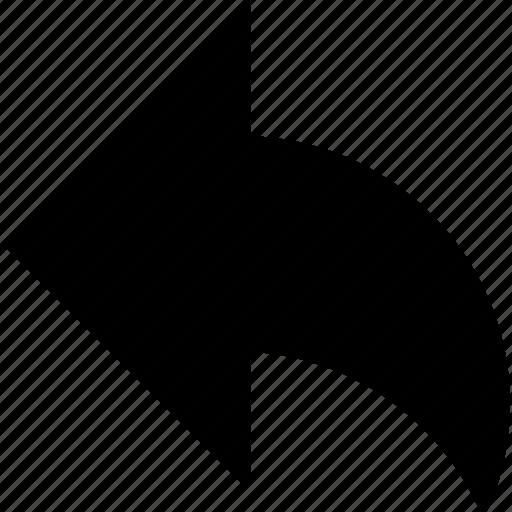 arrow, back, edit, left, undo icon