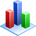 3d bar chart, analytics, charts, diagram, graph, statistic, statistics icon