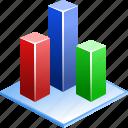 3d bar chart, analytics, charts, diagram, graph, statistic, statistics icon