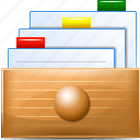 archive, card file, database, documents, folder, library, office icon