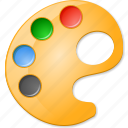color palette, draw, layout, paint tools, paintbrush, painter, template icon