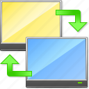 arrows, connection, displays, exchange, refresh, sync computers, update icon