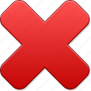 cancel, delete, dust bin, erase, eraser, remove, x cross icon