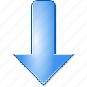 arrow, decrease, direction, down, download, minimize, move icon