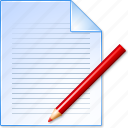 change text, correct, edit file, modify document, pen, pencil, write icon