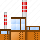 company, construction, fabric, factory, industrial building, industry, power plant icon