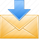 download, email, get, mail, open, receive icon
