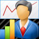 analytics, economics, lecture, lecturer, logistics, marketer, report icon