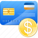 bank card, banking, cash, dollar coin, money, payment icon