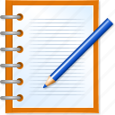 business records, edit notes, modify document, note, office, paper, pencil icon