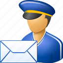delivery, email, envelope, letter, mail courier, post office, postman icon