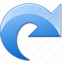 arrow, redo, repeat, right, rotate, rotation, update icon