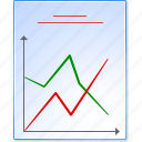 analytics, diagram, financial charts, function plot, graph, report sheet, statistics icon