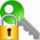 access key, password, protection, safety lock, secret code, security, unlock icon