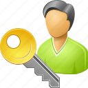 log in, password, register, secret key, secure, security, user login icon