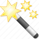 fairy, magic wand, magical, magician, mystery, stick, wizard icon