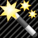 fairy, magic wand, magical, magician, mystery, stick, wizard icon