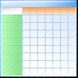data sheet, database, datasheet, excel table, grid, layout icon