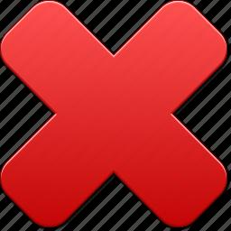 cancel, delete, dust bin, erase, eraser, remove, x cross icon