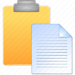 clipboard, edit, file, page, paste document, sheet, text icon