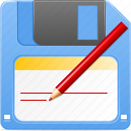 backup, disk, diskette, export, floppy, save as, store icon