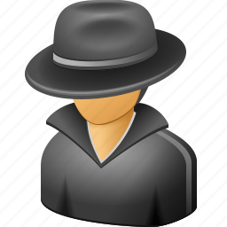 cia spy, detective, fbi agent, hacker, secret service, security, thief icon