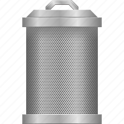 delete, dustbin, recycle bin, remove, rubbish basket, trash can, trashcan icon