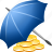 bank, insurance, money, protect, protection, safety, umbrella icon