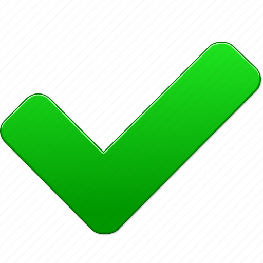 Accept, approve, check, confirm, green mark, ok, yes icon ...