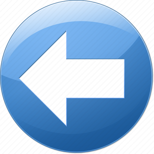 back, backward, left arrow, navigation, pointer, previous, undo icon