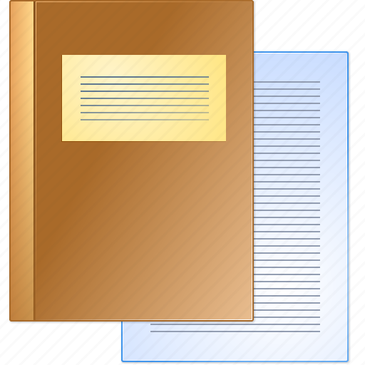 accounting, book, brief, case history, data, documents, records icon