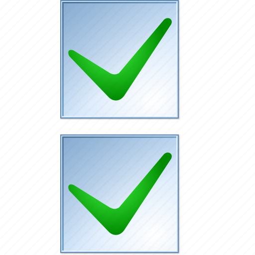 accept, check boxes, checkboxes, form, ok, test, yes icon