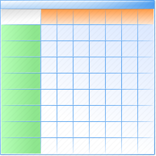 data sheet, database, datasheet, excel table, grid, layout icon