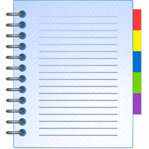 address book, catalog, document, information, inventory, product list, report icon